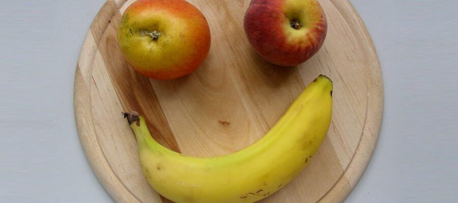 Bananas make you happier smiley face