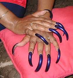 long false nails 