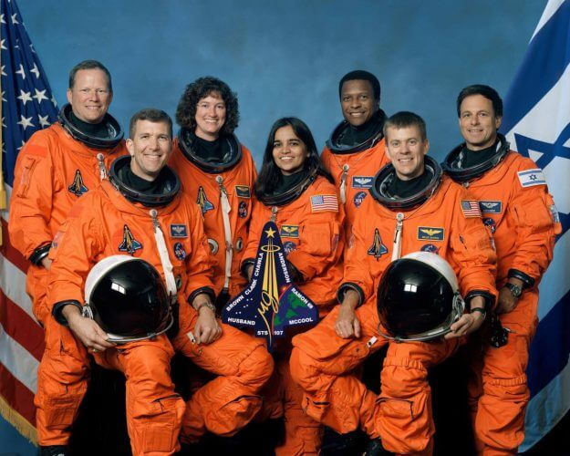 Space travel disasters: Columbia crew